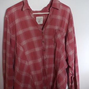 Flannel style snap shirt